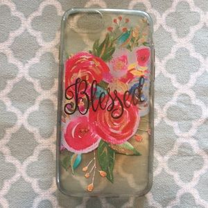 Blessed Clear Floral iPhone 6/6S